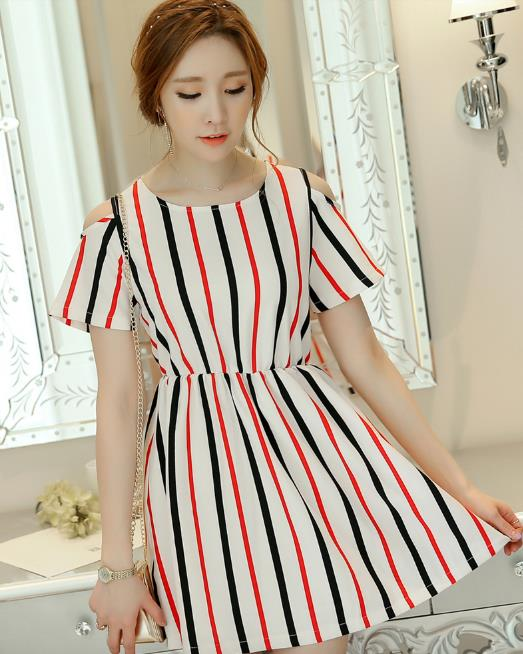 WD3728 Fashion Sweet Stylish Dress As Picture