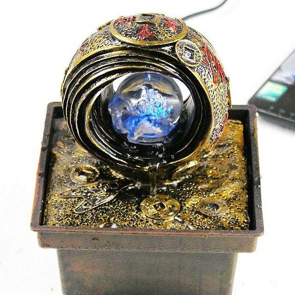 The Wealth Feng Shui Ring Tabletop Fountain