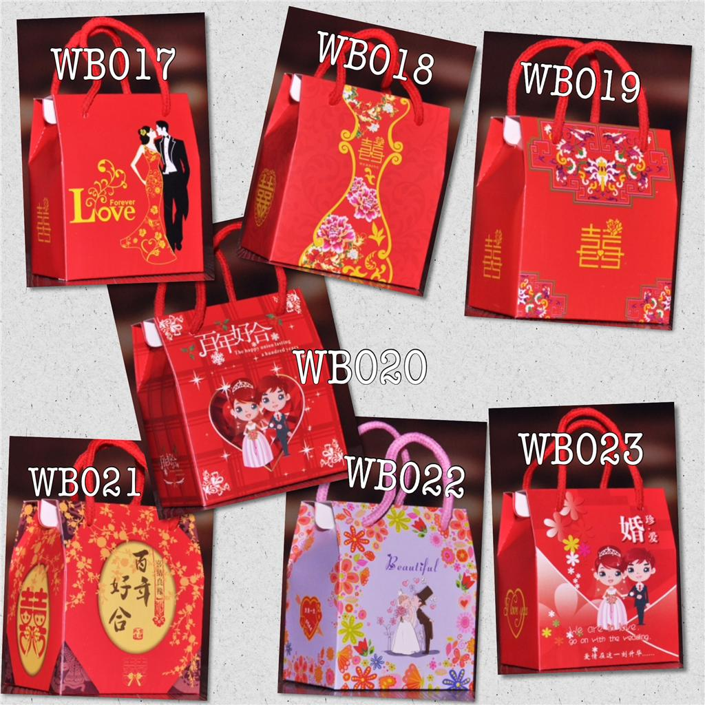 Wedding Gift Bags Malaysia : Wedding Gift Box Mini Bags Chinese & Western Style Design 7 styles