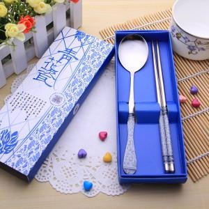 Wedding Gift~Portable Stainless Steel Dinner Set 2 pcs(Blue)
