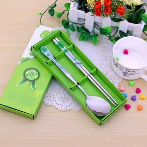 Wedding Gift Dinner Set : Wedding Gift~Portable Stainless Steel Dinner Set 2pcs(Green)