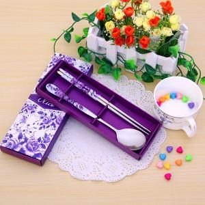Wedding Gift Dinner Set : Wedding Gift~Portable Stainless Steel Dinner Set 2ps(Purple) ItemID ...