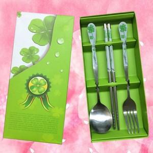 Wedding Gift Dinner Set : Wedding Gift~Portable Stainless Steel Dinner Set 3pcs(Green)