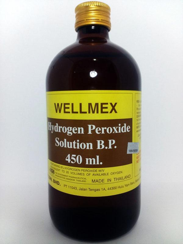 Wellmex Hydrogen Peroxide Solution B.P. (450ml) (Wound Care)