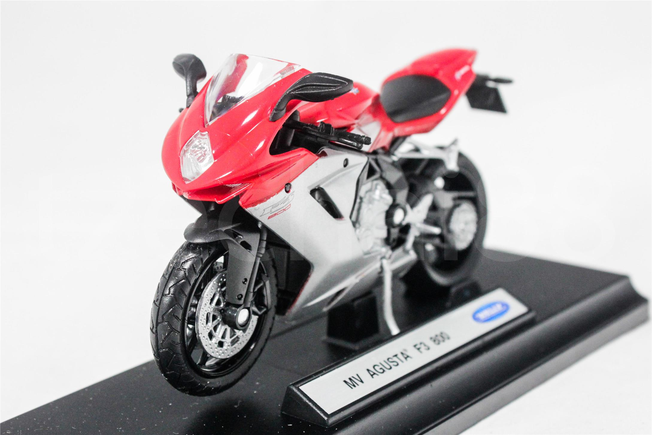 Welly 1:18 Die Cast MV Agusta F3 800 Motorcycle Red Color Model New