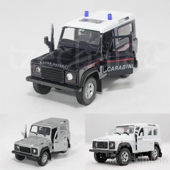Welly 1:34-1:39 Die Cast Land Rover Defender Car 3 Color Model Collect