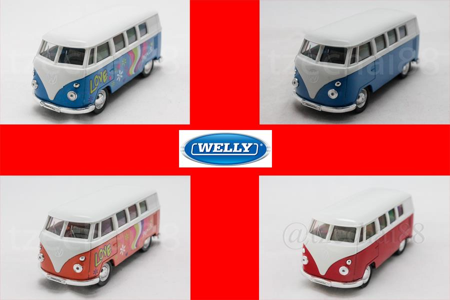 Welly 1:34-1:39 DIECAST 1963 Volkswagen T1 Bus /(Flower)2 Color Model