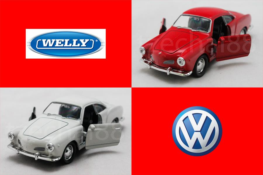 Welly 1:34-1:39 DIECAST Volkswagen Karmann Ghia Coupe Car 2 Color Mode