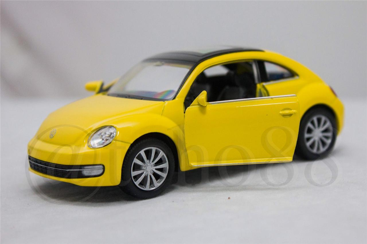 WELLY Die Cast Car Yellow Volkswagen Beetle 1/34-1/39 Collection
