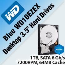 WESTERN DIGITAL BLUE WD10EZEX DESKTOP 3.5' HARD DRIVES