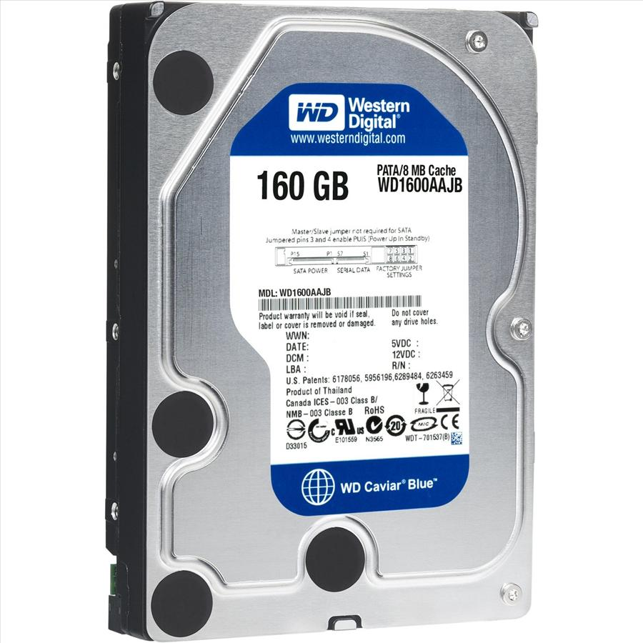 Western digital caviar blue 160gb pata hard drives wd1600aajb