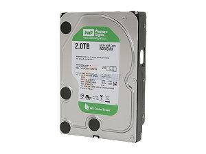 WESTERN DIGITAL HDD DESKTOP SATA III CAVIAR GREEN 2TB 7200RPM 64MB
