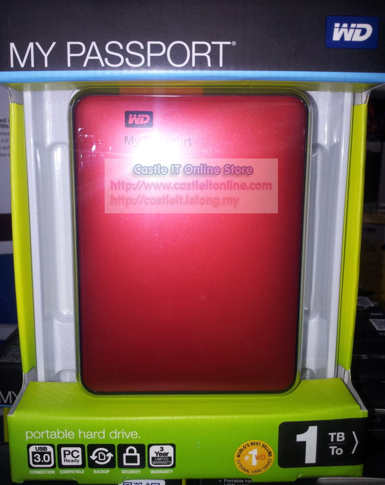 Western Digital My Passport 1TB RED 2.5 Portable HDD WDBBEP0010BRD