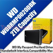 WESTERN DIGITAL MY PASSPORT PRO 2TB HARD DRIVE (WDBRMP0020DBK)
