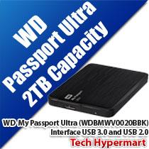 WESTERN DIGITAL MY PASSPORT ULTRA HDD (WDBMWV0020BBK)
