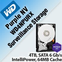 WESTERN DIGITAL PURPLE NV WD4NPURX 3.5' SURVEILLANCE STORAGE