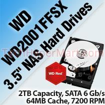 WESTERN DIGITAL RED PRO WD2001FFSX 3.5' NAS HARD DRIVES