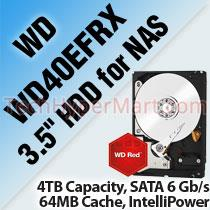 WESTERN DIGITAL RED WD40EFRX 3.5' HDD FOR NAS