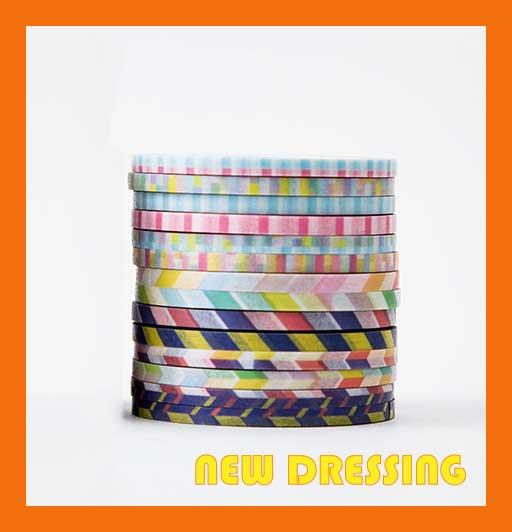 WH060A - 3mm Basic Pattern Washi Tape (14 Rolls) V1
