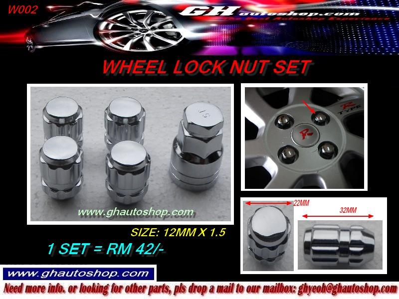 WHEEL LOCK NUT SET W002 (SIZE: 12MX1.5)