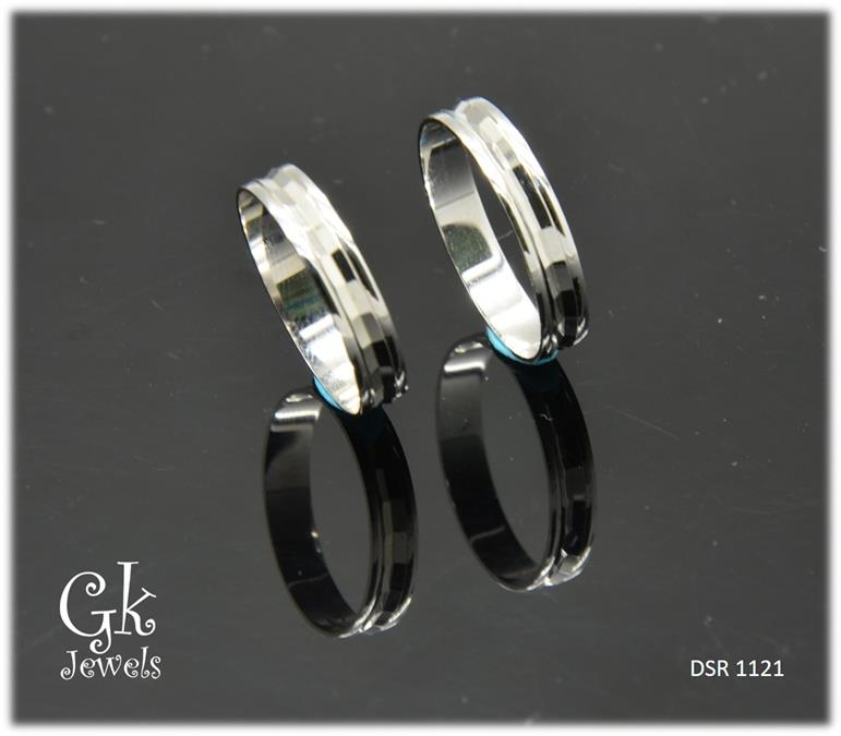 White Gold On 925 Silver Couple Ring per pair DSR 1121