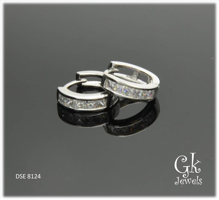 White Gold On 925 Silver Earring DSE 8124