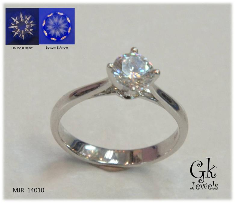 White Gold On 925 Silver Ring  MJR 14010