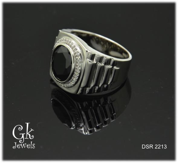 White Gold On Silver Ring DSR 2213