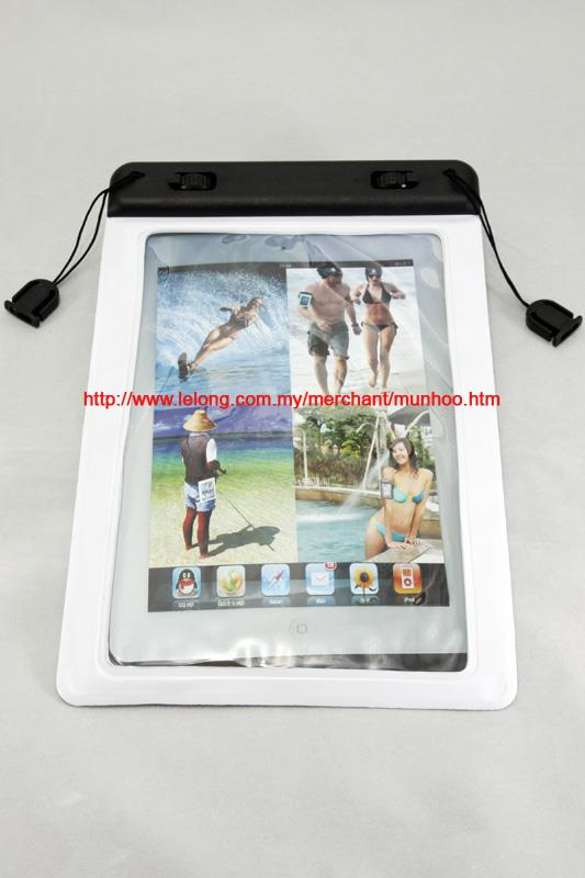 White Waterproof Swimming Case Bag for Apple iPad Mini