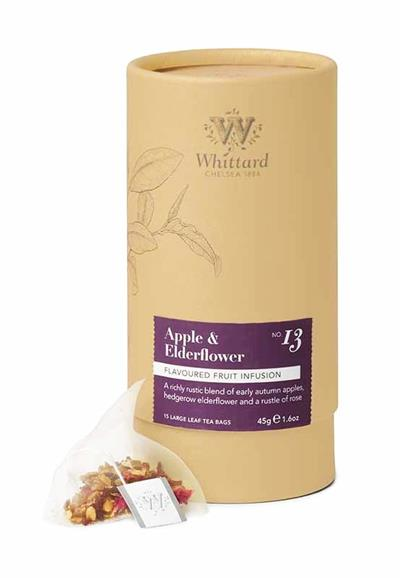 Whittard Apple & Elderflower Fruit Infusion 15 Large Leaf Tea Pyramids