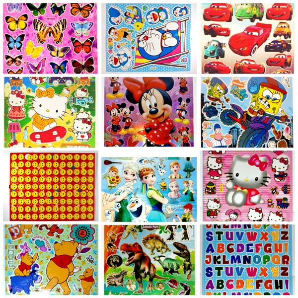 Wholesale Gifts for Children Cartoon Stickers (Assorted) X 100