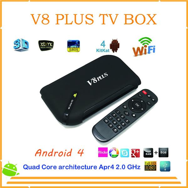 Wholesale Smart TV Boxes V8 plus S812 Quad Core 2G/8G Set Top Box