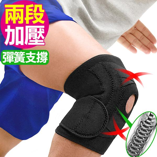 Wide & Double Spring Adjustable Kneepad, Knee Support with Open Hole