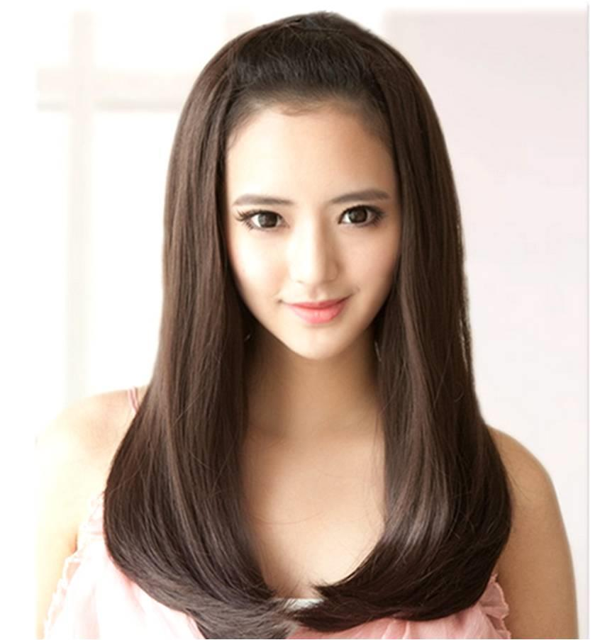 Half wig extension medium EX123/ready stock/rambut palsu/good quality