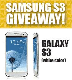 Win a SAMSUNG GALAXY S3 or iPod Touch now!