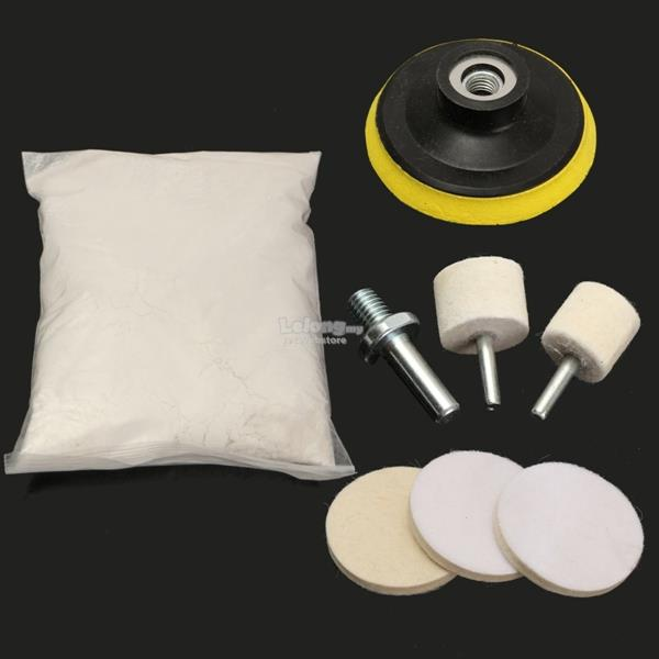 Windscreen Polishing Powder Kit Car Glass Scratch Repair Wiper Blade D