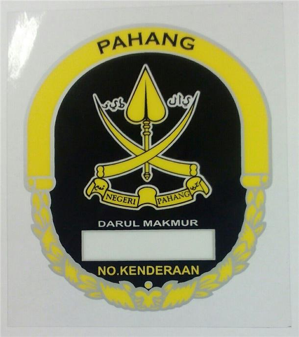 Windscreen Sticker Pahang