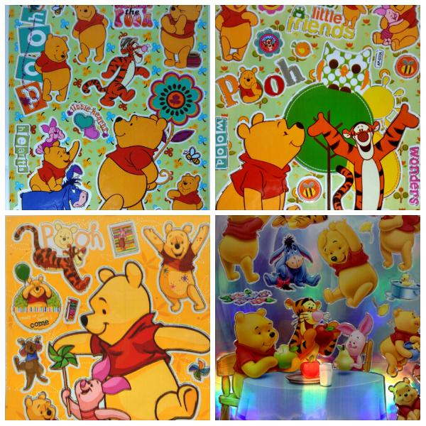 Winnie the Pooh Stickers 5pieces