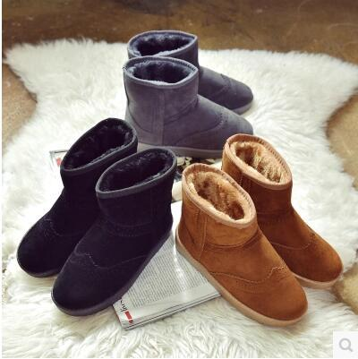 Winter new arrival extra thick velvet high top snow boot