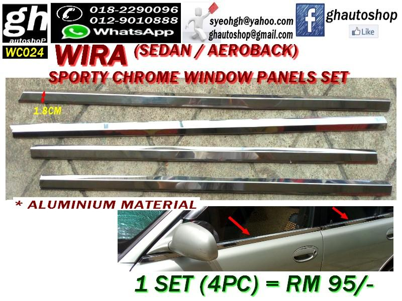 WIRA SPORTY CHROME WINDOW PANELS COVER SET WC024 (4PC)