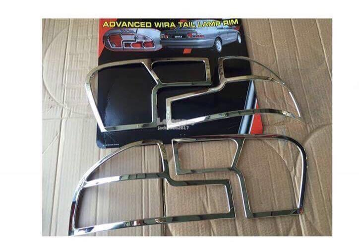 wira tail lamp cover chrome
