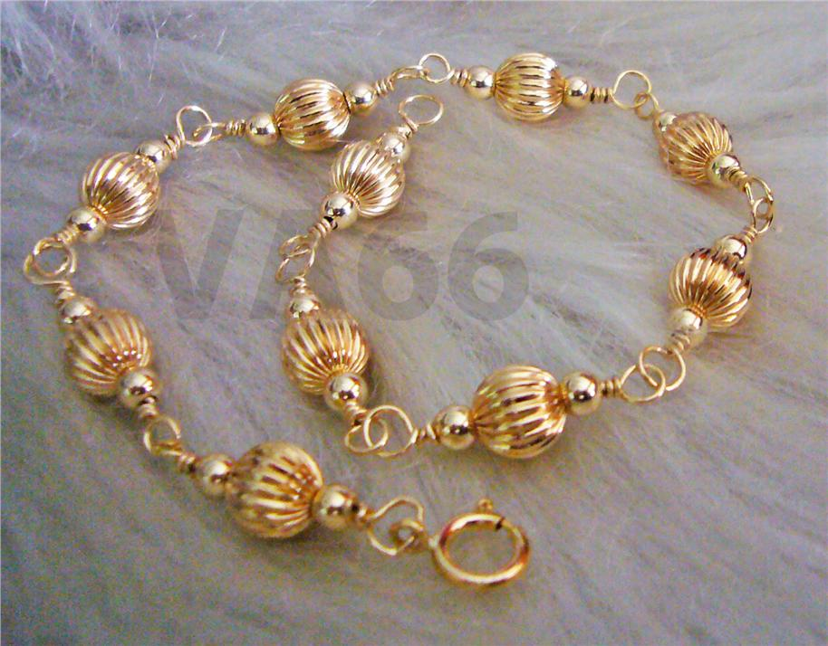 Wire Wrapped 14K Gold Suasa Bracelet Gelang Emas Jewelry