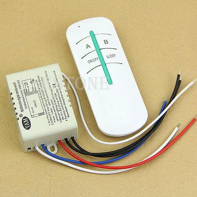 Wireless 2 Ways ON/OFF 220V Lamp Remote Control  Receiver Transmitter