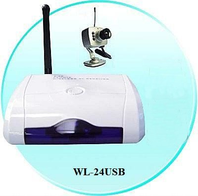 WIRELESS AUDIO/VIDEO COLOR CAMERA WITH USB RECEIVER/RECORDER (CCTV)