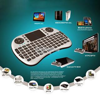 Wireless Keyboard Remote Control with TouchPad (Free Shipping)