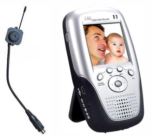 WIRELESS LCD RECORDER WITH PINHOLE AUDIO/VIDEO CAMERA (CCTV)#