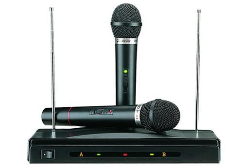 Wireless Microphone Karaoke System 2 Wireless Mic and 1 Receiver