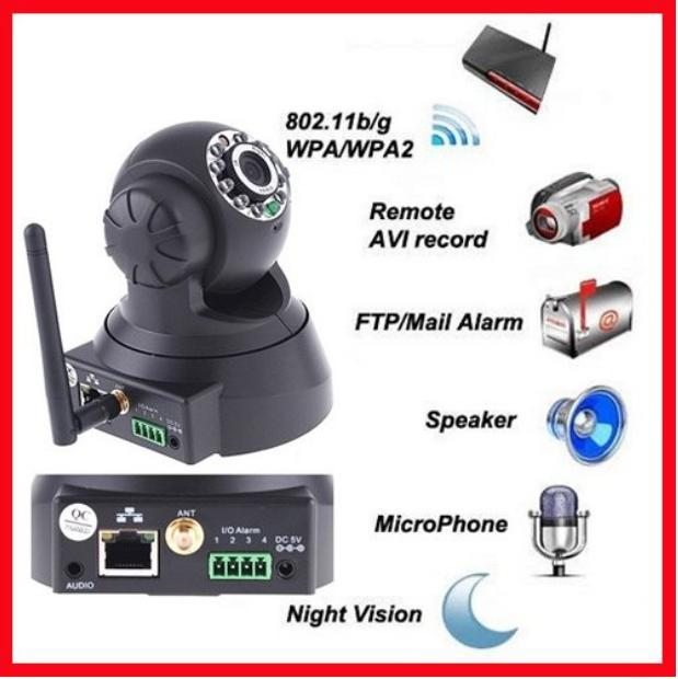 Promotion!!! Wireless Wifi IP CCTV Camera Night Vision Black