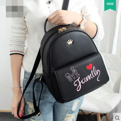 Women bag embroidered shoulder bag backpack