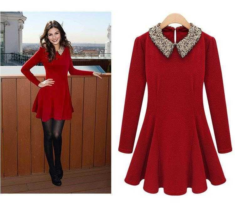 Women Clothes Western Euro Dress - Fashion Clothing /Plus Size Apparel